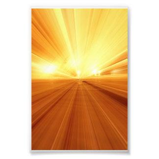Gold Yellow Orange Abstract Zoom Blur Photo Art