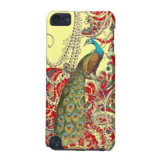 Gold Yellow Red Teal Peacock Swirl iTouch Case iPod Touch 5G Cases