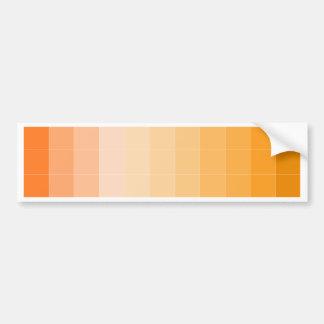 Gold Yellow Square Ombre Customizable Bumper Sticker