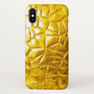 gold yellow textures iPhone x case