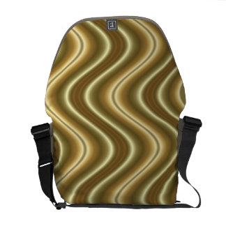 gold yellow wave abstract courier bag