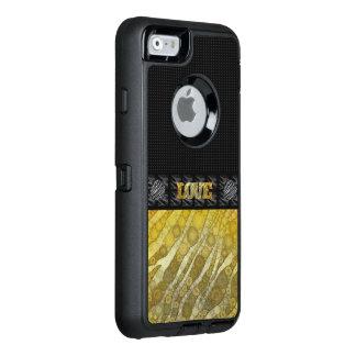 Gold Zebra Love OtterBox iPhone 6/6s Case