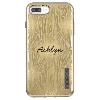Gold Zebra print Personalized case