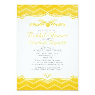 Gold Zigzag Bridal Shower Invitations