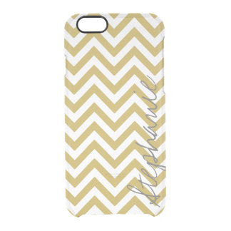 Gold Zigzag Stripes Chevron Pattern Name | Apple Clear iPhone 6/6S Case