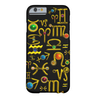 GOLD ZODIAC BIRTHDAY JEWELS,GEMSTONES,ASTROLOGY BARELY THERE iPhone 6 CASE