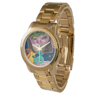 Gold Zodiac Capricorn Woman Watch