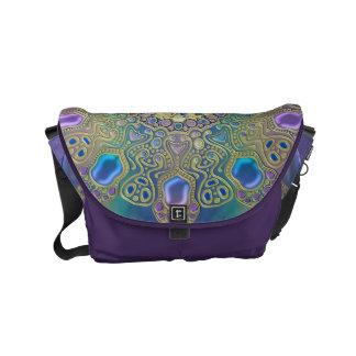 Gold Zodiac Sign Aquarius Mandala Courier Bag