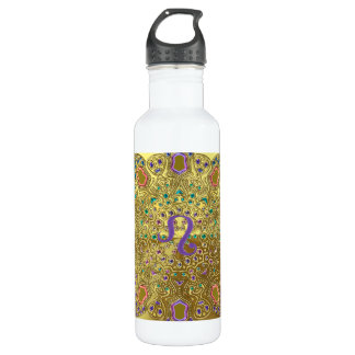 Gold Zodiac Sign Leo Mandala 710 Ml Water Bottle