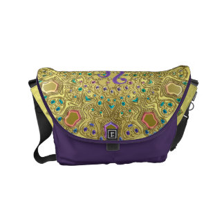 Gold Zodiac Sign Leo Mandala Commuter Bag