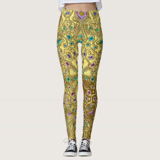 Gold Zodiac Sign Leo Mandala Leggings