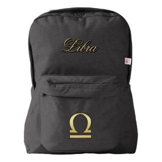 Gold Zodiac Sign Libra Backpack