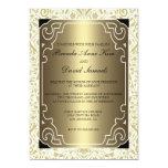 Golden 1920s Art Deco Wedding Invitation
