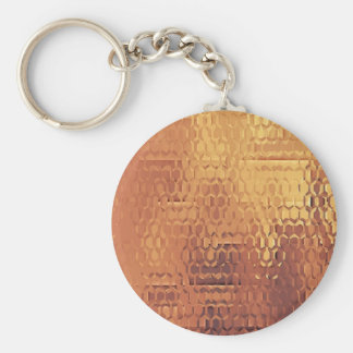 "Golden 2.25"" Basic Button Keychain"