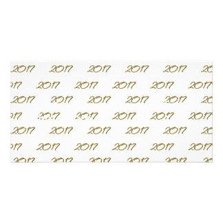 Golden 3-D look 2017 Photo Card