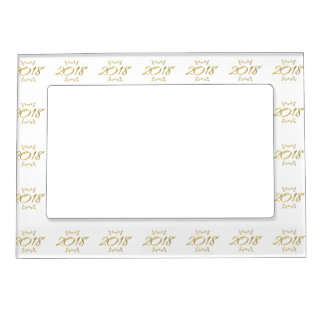 Golden 3-D Look 2018 Magnetic Frame Template