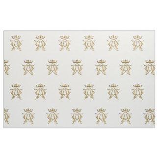 Golden 3-D Look Alpha and Omega Symbol Fabric