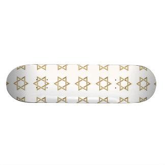 Golden 3-D Star of David Custom Skateboard