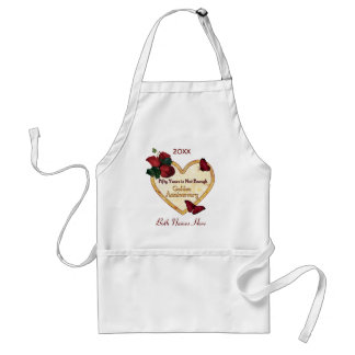 Golden 50 Anniversary Aprons