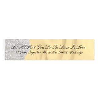 Golden 50th Quote Anniversary Napkin Band
