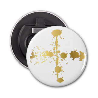 Golden abstract #3 bottle opener