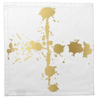 Golden abstract #3 napkin