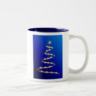 Golden Abstract Christmas Tree Coffee Mug
