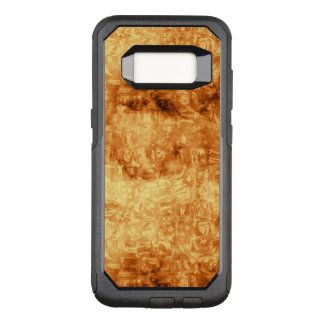 Golden Abstract Daisy Pattern OtterBox Commuter Samsung Galaxy S8 Case