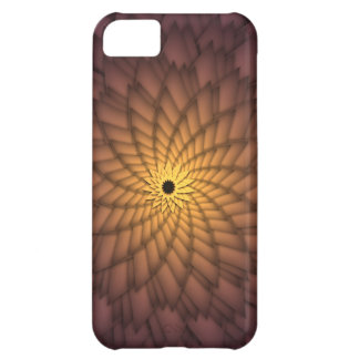 Golden Abstract Flower Case For iPhone 5C