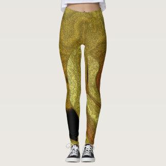 Golden Abstract Leggings