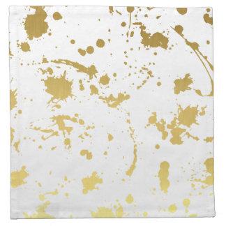 Golden abstract napkin