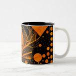 golden abstract Two-Tone mug
