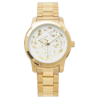 Golden abstract watch