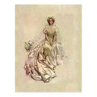 Golden Age 1902 ~ Beautiful Bride Postcard