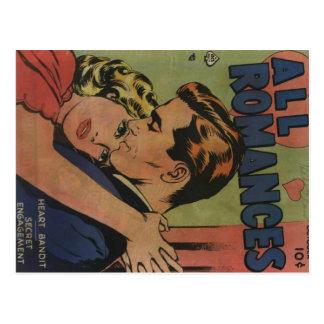 Golden Age Comic Art - All Romances Postcard