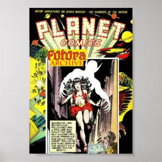 Golden Age Comic Art - Futura Print