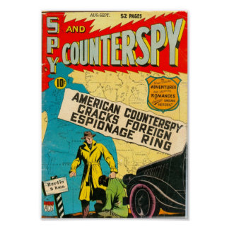 Golden Age Comic Art - Spy and Counterspy Poster