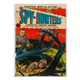 Golden Age Comic Art - Spy-Hunters Poster