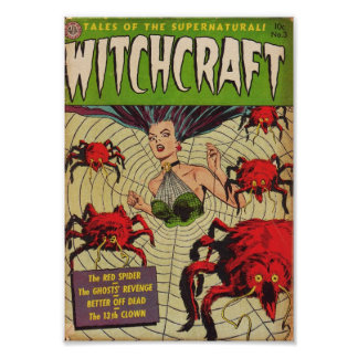 Golden Age Comic Art - Witchcraft Poster