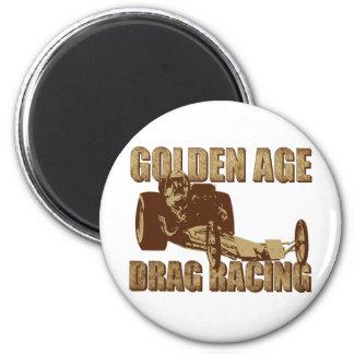 golden age drag racing digger dragster 6 cm round magnet