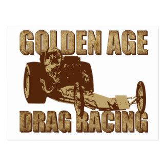 golden age drag racing digger dragster postcard