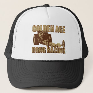 golden age drag racing digger dragster trucker hat