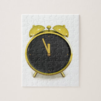 Golden alarm clock jigsaw puzzle
