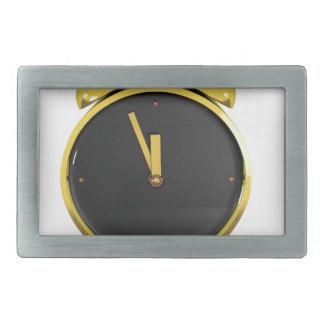 Golden alarm clock rectangular belt buckles