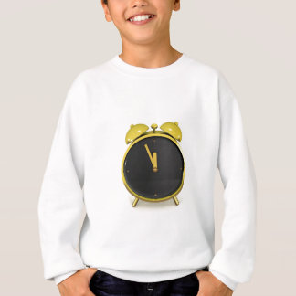 Golden alarm clock sweatshirt