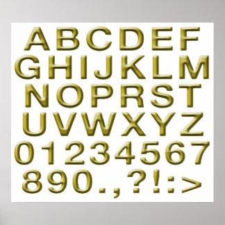 Golden Alphabet Poster