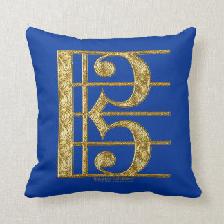 Golden Alto Clef Cushion