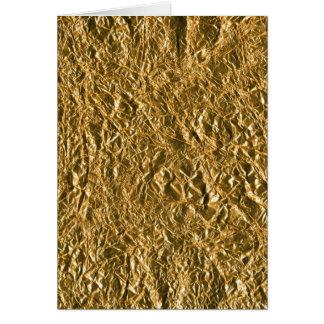 Golden Aluminium Background Greeting Cards