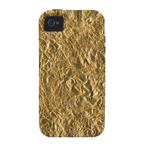 Golden Aluminium Background Case-Mate iPhone 4 Cover