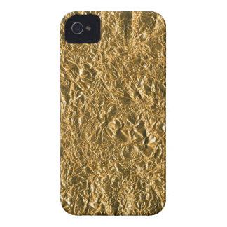 Golden Aluminium Background iPhone 4 Case-Mate Case
